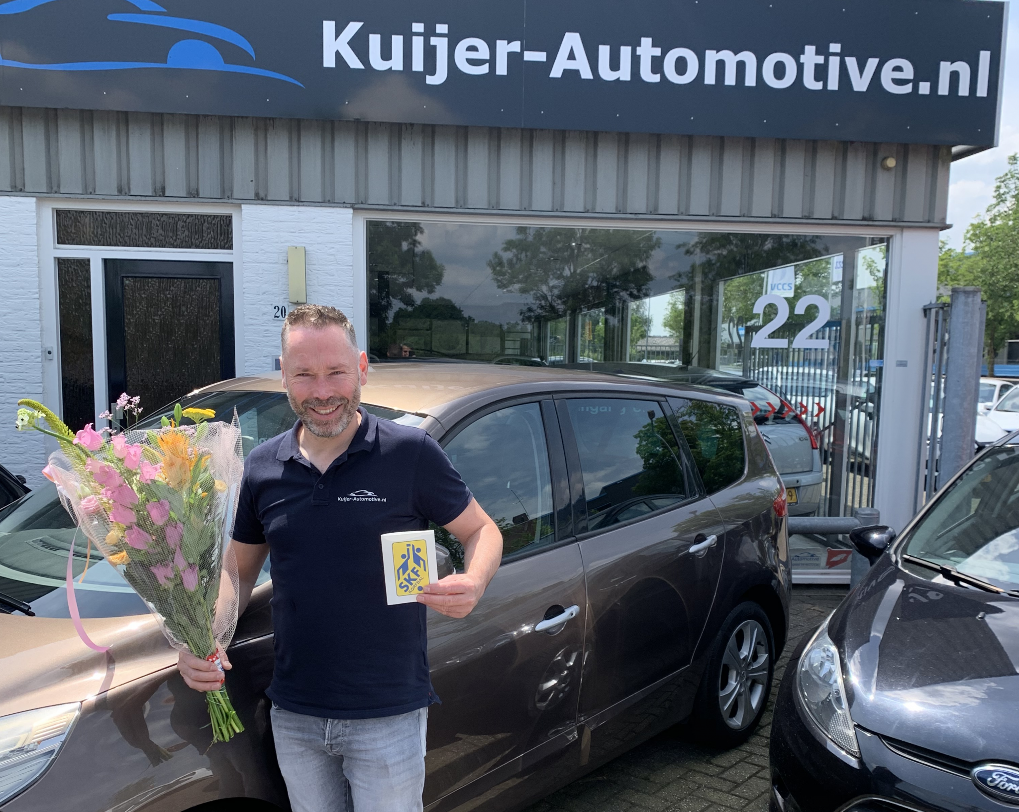 Sponsoren SKF in de bloemen